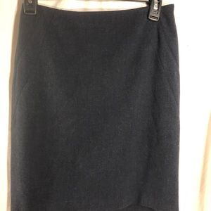 The Limited charcoal dark gray lined pencil skirt